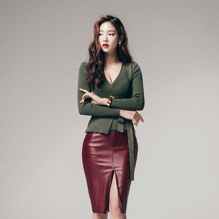 Compare Prices on Red Leather Skirt Suit- Online Shopping/Buy Low ...