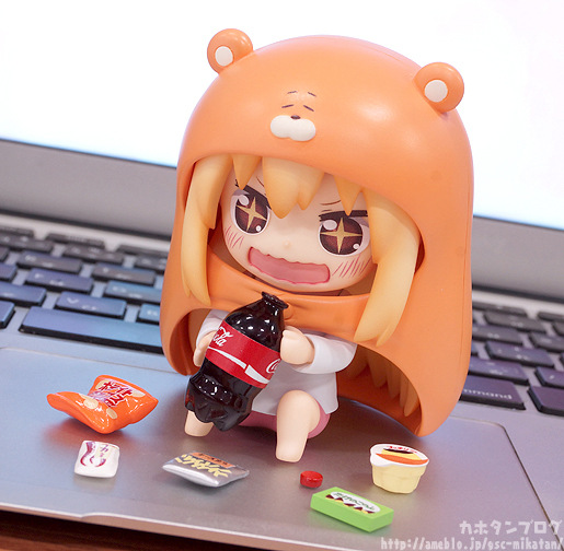 10cm Himouto Umaru-chan Nendoroid Umaru #524 Anime Action Figure PVC toys Collection figures for friends gifts 28