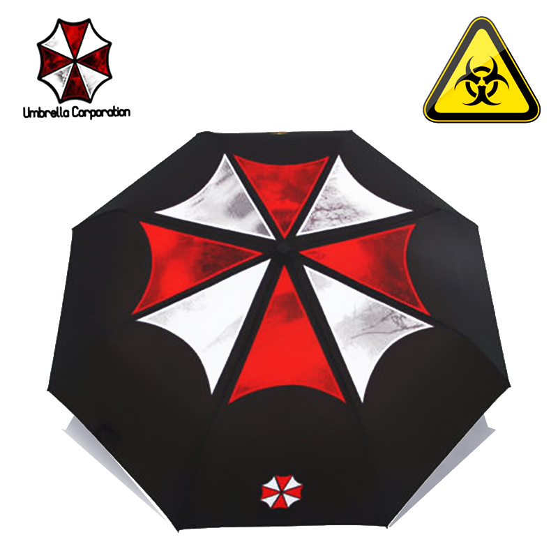 LIKE RAIN კრეატიული ფილმი Biohazard Umbrella Fashion Men Folding Umbrella Women Anime Umbrellas Creative Movie Sun Umbrella UBY17