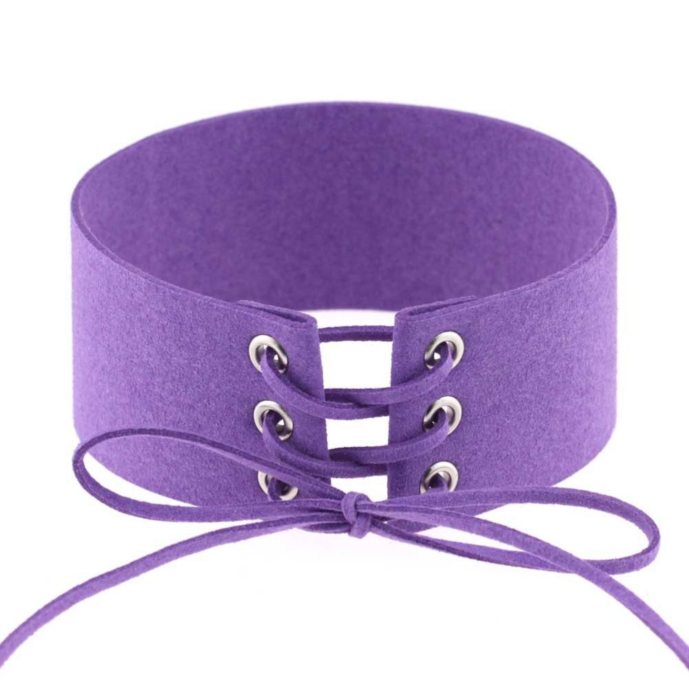 HTB15OpoLpXXXXaOaXXXq6xXFXXXM Gothic BDSM Black Velvet Lace Up Choker Collar Necklace For Women - 11 Colors