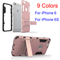 Moda 1 unid de lujo 2 en 1 armor transformers antigolpes tp + pc hard back case cover para iphone 6 para iphone 6 s