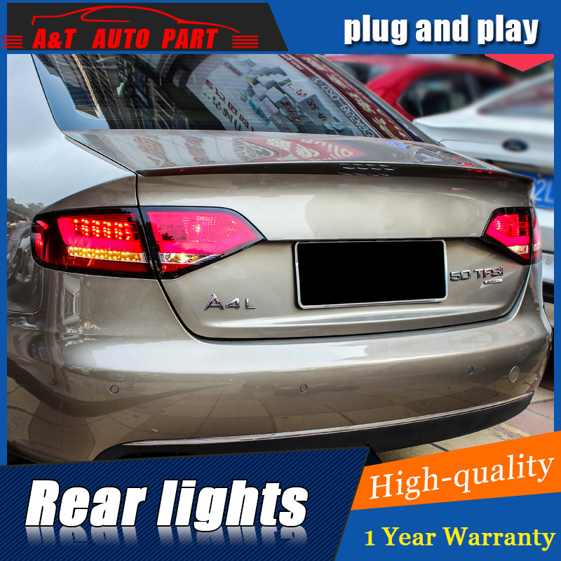 Car Styling LED Tail Lamp for A4 Taillight assembly 2009-2012 for A4 Rear Light DRL+Turn Signal+Brake with hid kit 2pcs. car styling for mazda cx 5 taillight assembly 2011 2015 cx5 led tail light new cx 5 led rear lamp drl brake with hid kit 2pcs