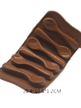 DIY Craft spoon shape chocolate cake mold handmade silicone Food Grade silica gel baking mould