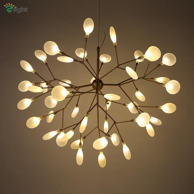 Modern Metal Branch Led Pendant Chandelier Lights Re Acrylic Dining Room Chandeliers Lighting Hanging