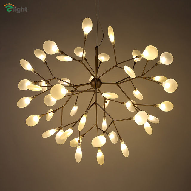 Modern Metal Branch Led Pendant Chandelier Lights Re Acrylic Dining Room Chandeliers Lighting Hanging Light Fixtures