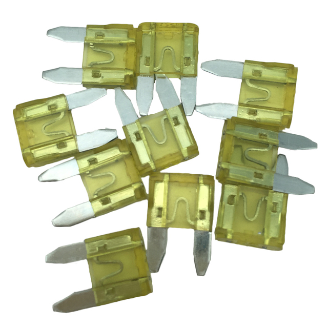 10Pcs Mixed Mini Blade Fuse 5A 10A 15A 20A 25A 30A AMP Assortment Standard Fuse Auto Car Truck Fuse Set