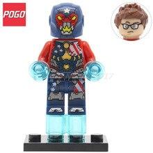 POGO Justin Hammer Action Figure Super Hero Avengers DIY Building Block Set Single Sale PG149 Kids Brick Toys With