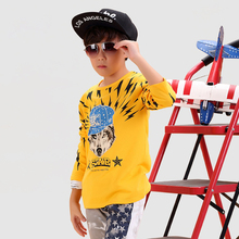 Wolf Children T Shirts Novelty New Fashion Boy Tops And Tees Kids Wear Cotton Long Sleeve Brand Wolf Children T Shirts Clothing