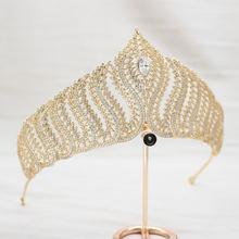 Parmalambe Роскошная золотая циркониевая Королевская корона