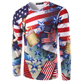 2017 New Arrival 3D T Shirt Men Autumn Fashion American Flag Printed Men Slim Fit O Neck T Shirt Brand Men Cotton Funny T Shirts