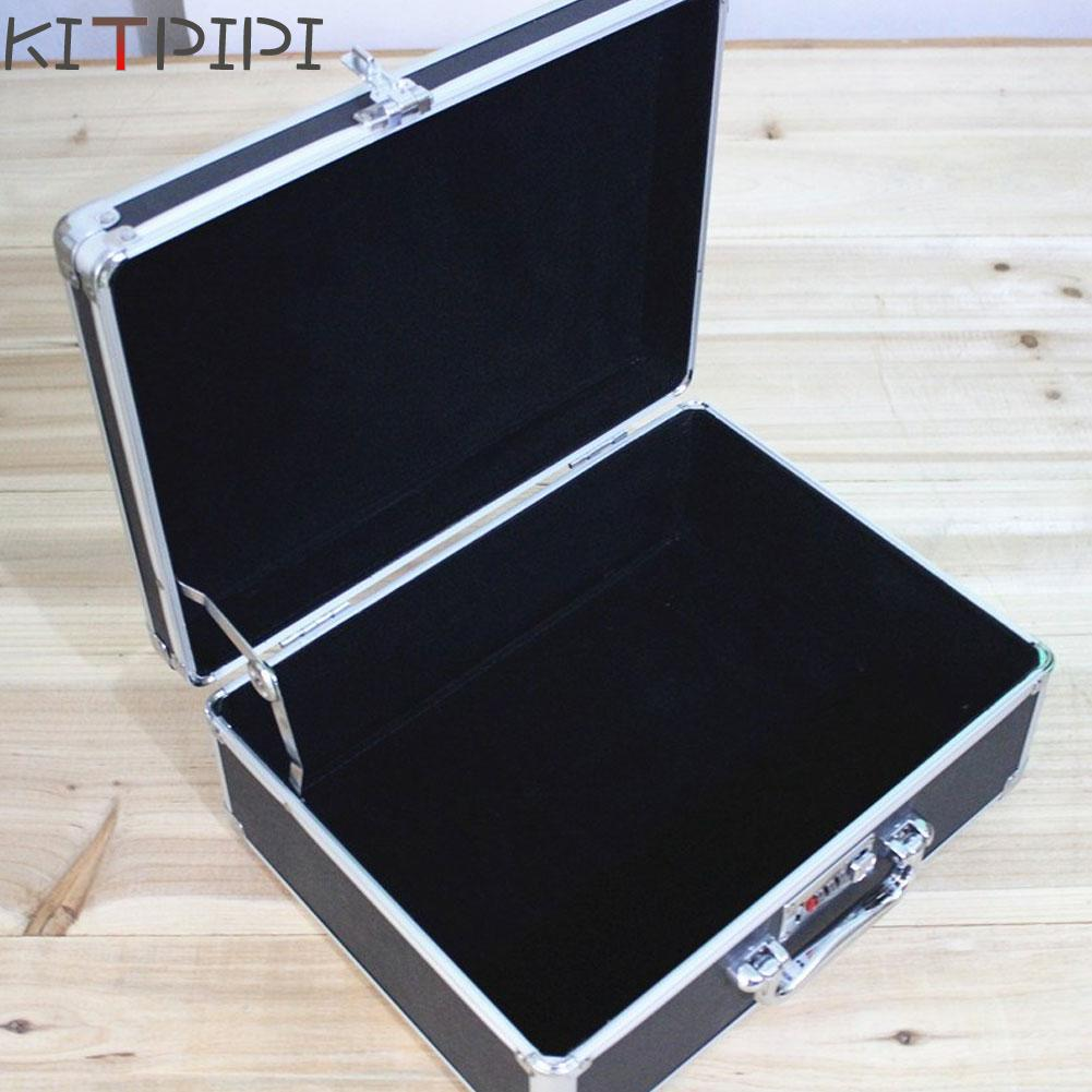 KITPIPI New Aluminum Tool Case Suitcase Toolbox File Box Impact Resistant Safety Case Equipment Camera Case 34x26x14cm ZJI7498