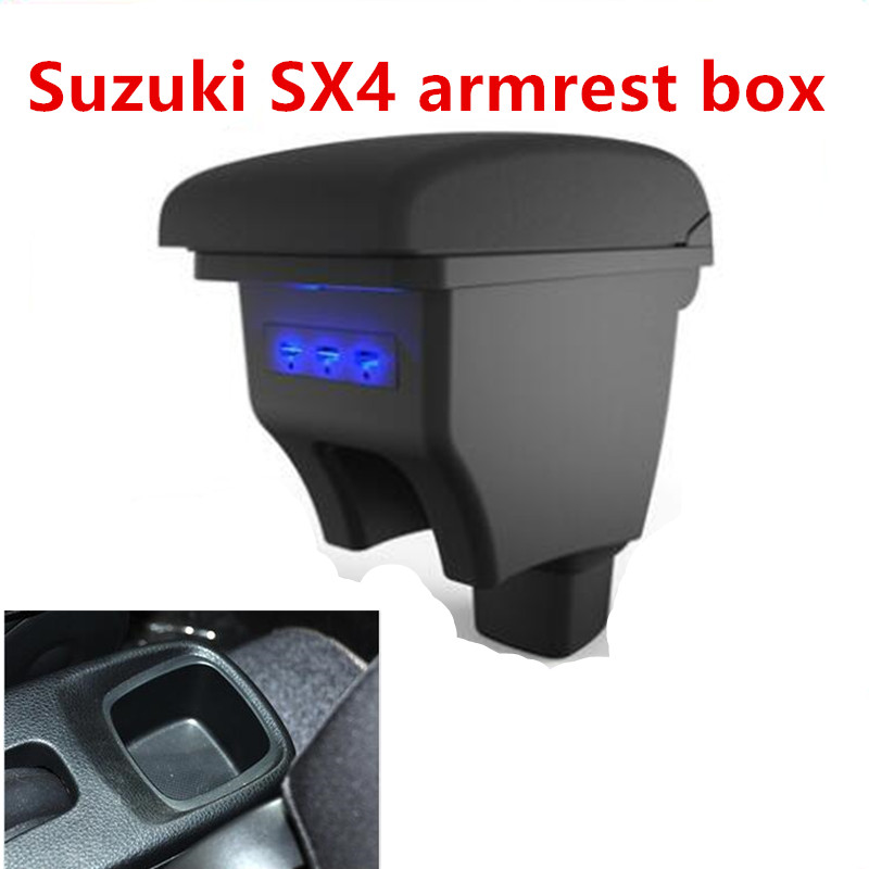 Pour Suzuki SX4 accoudoir boîte magasin central contenu boîte accessoires avec interface USB