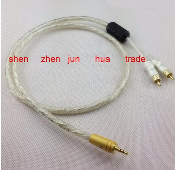 10pcs NEW Liton 6N sivel plated 1M Stereo Audio Cable 3.5mm Male to 2 RCA Male for Subwoofer TV Speaker new liton 6n sivel plated 1m stereo audio cable 3 5mm male to 2 rca male for subwoofer tv speaker