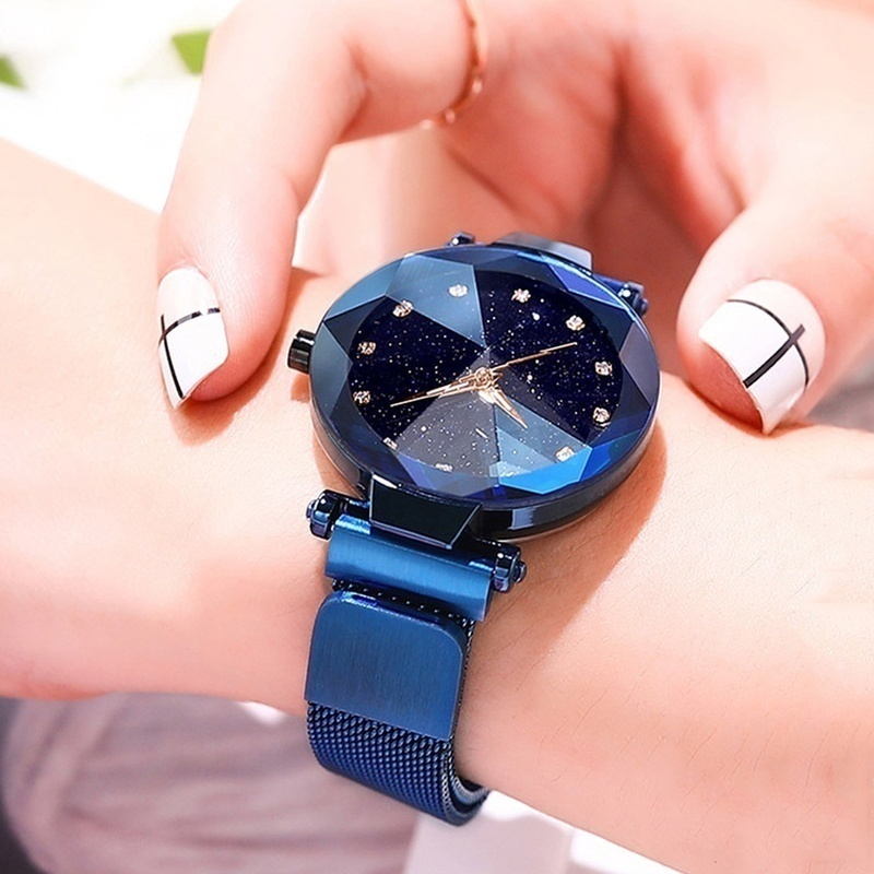 Starry Sky Watches Purple Women Simple Quartz Watch Casual Rose Gold Luxury Stainless Steel Female WristWatch Montre Femme