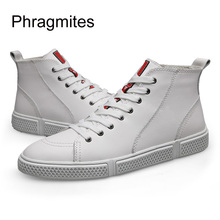 цены Phragmites Hot Sale European High-calf Sneakers Winter Fur White Shoes Fashion Casual Men Boots Ankle Zapatos De Mujer Men Boots