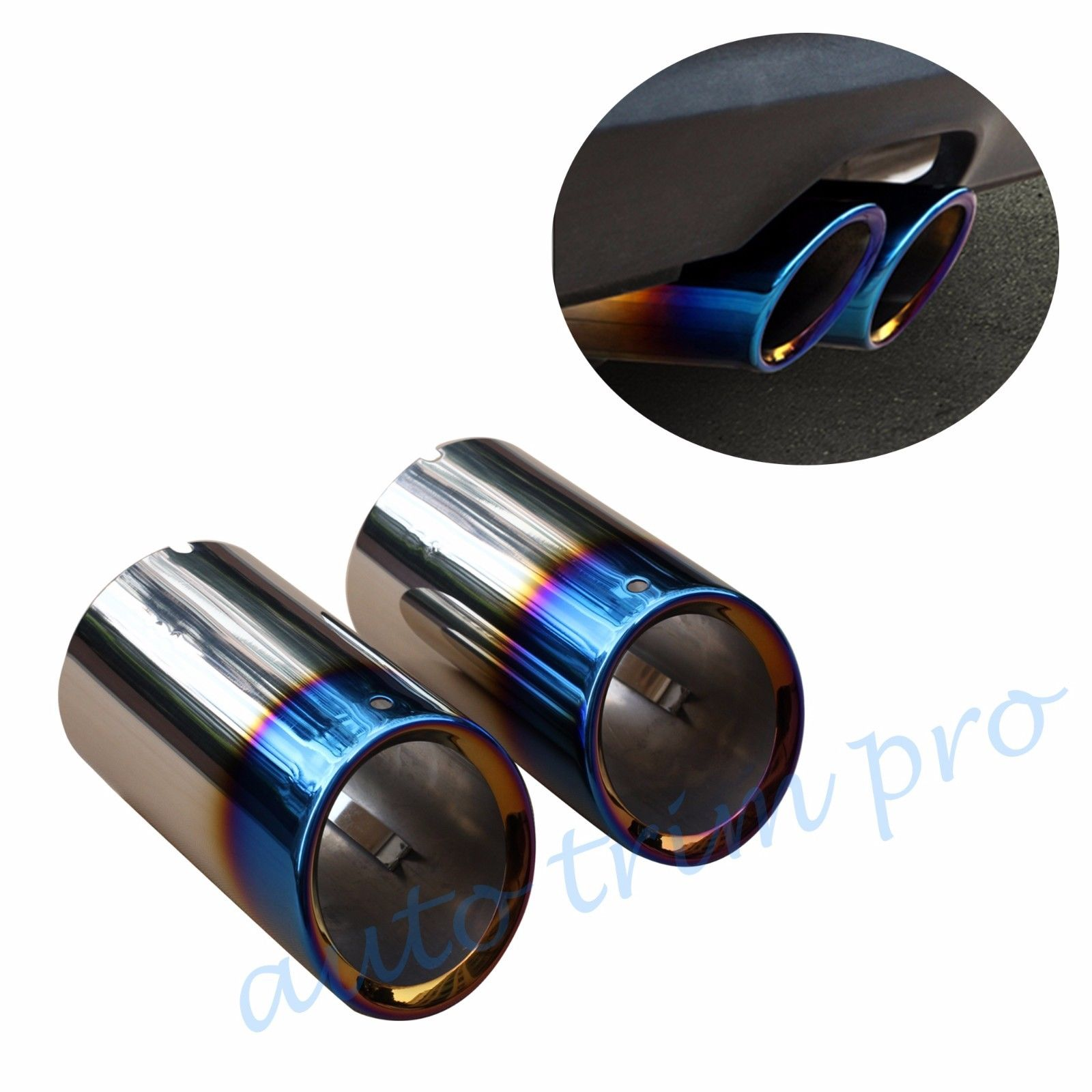 Rear Muffler Exhaust Tailpipe End Tip Fit For BMW F25 X3 xDrive 2011 2014 Accessories Decorate