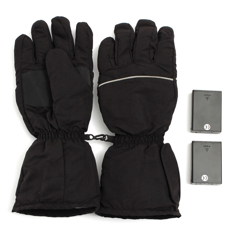 New Stylish Black Electric Heating Gloves Battery Powered For Outdoor Motorcycle Hunting Winter Hand Warmer