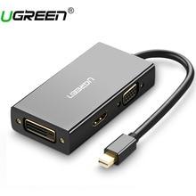 Ugreen Thunderbolt Mini DisplayPort DP к HDMI VGA, DVI адаптер конвертер кабель для Apple MacBook Air Pro Mini DP к HDMI VGA, dvi