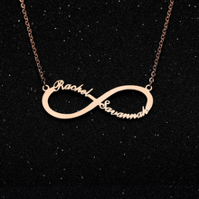 Personalized Infinity Necklace 1-4 name with heart Custom Necklaces Stainless Steel Pendant Gold Chain