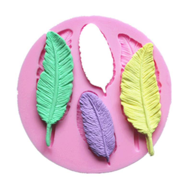 Foil Leaves Cake Decorating : Luyou DIY Leaf Shaped Silicone Fondant Mold Silicone ...