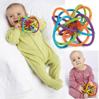 0-12 Months Baby Toy Baby Ball Toy Rattles Develop Baby Intelligence Baby Toys Plastic Hand Bell Rattle