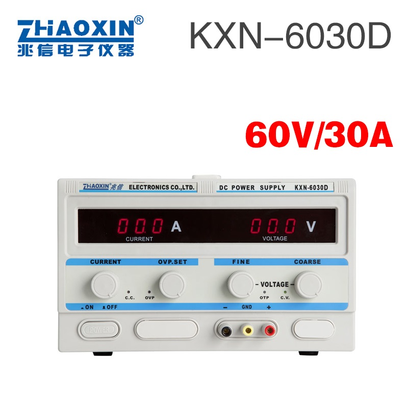 ZHAOXIN KXN-6030D 0-60V 30A Adjustable DC Constant Current Power Supply Plating  Laboratory power supply cps 6011 60v 11a digital adjustable dc power supply laboratory power supply cps6011