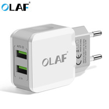 OLAF 2 USB Charger For iPhone X 8 7 Plus iPad 2.5A Fast Charger Adapte