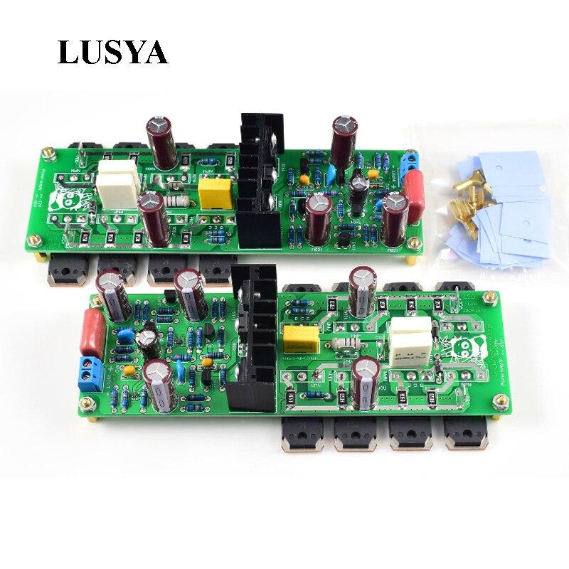 Lusya 1Pair 2 channels L20.5 250W*2 Audio Power Amplifier Board HIEND Ultra-low Distortion KEC KTB817 KT DIY KIT жесткий диск 4tb toshiba n300 hdwq140uzsva