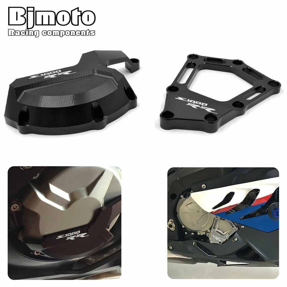 For BMW S1000RR 2010-2016 S1000R 2014-2016 HP4 2012-2016 Engine Guard Case Slider Cover Protector Saver Stator Guard CoverSlider cnc aluminum rear chain guard cover protector for bmw s1000r 2014 2015 s1000rr 2010 2016 hp4 2012 2014