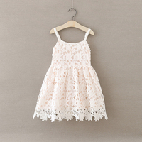 Everweekend Girls Summer Lace Dress Halter Candy Multi Color Princess Party Dress Hollows Sweet Children Fashion Dress