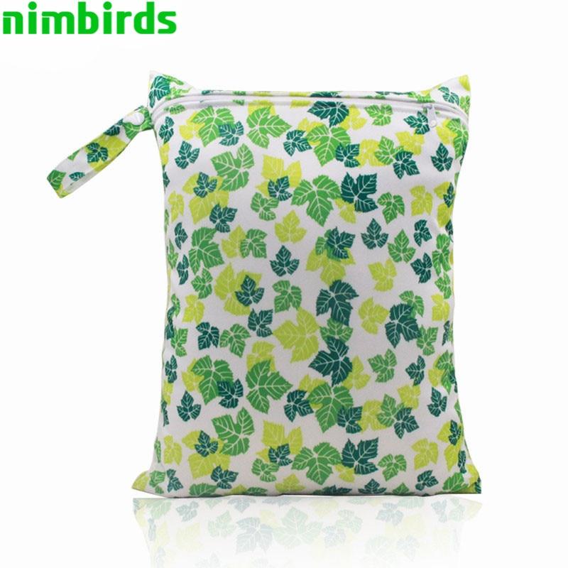 Perjalanan tahan air tas popok bayi, Ritsleting tunggal cetak dapat digunakan kembali bayi popok, Basah kering tas, Wetbags tas bersalin, Bolso Maternidad