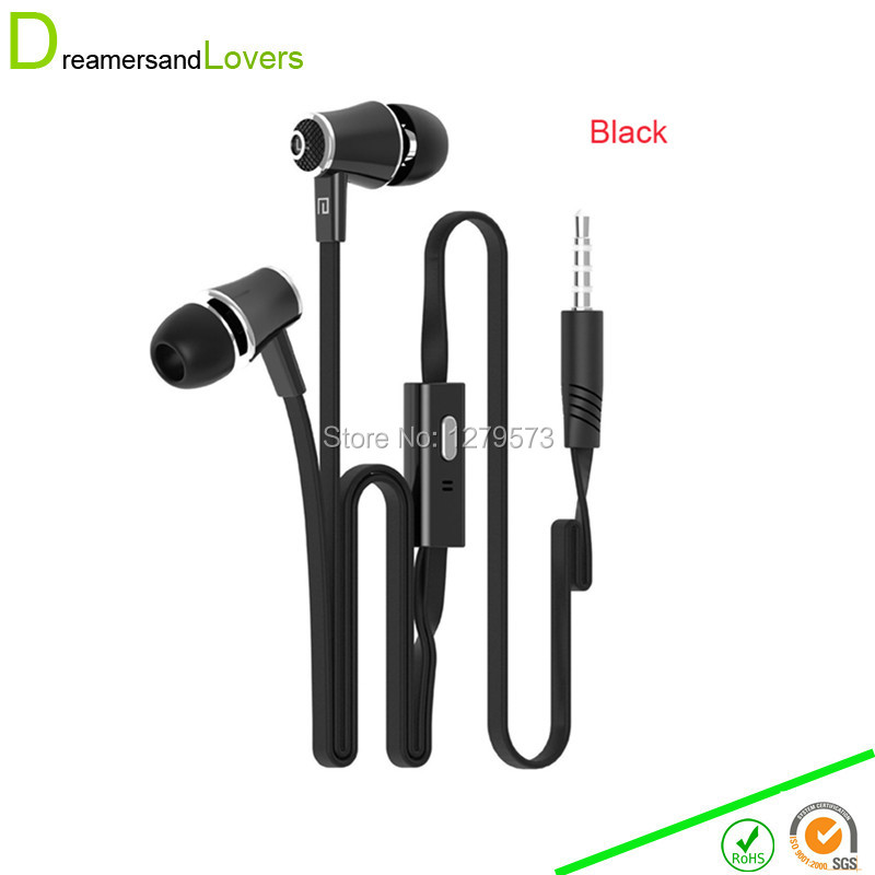 Dreamersandlovers Summer Colorful Earphone Earbuds with Microphone Noise Isolation Stereo In-ear Earphones For Iphone Xiaomi