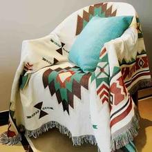 Постельное белье из чистого хлопка в стиле ретро ковер ностальгия тонкое одеяло tie-dye Индийский стиль одеяло покрывало гостиная, спальня Войлок гобелен
