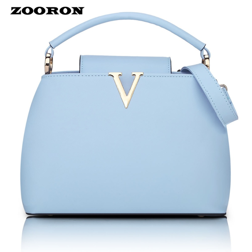 ZOORON 2017 The New women fashionable Brand Handbag Shoulder PU leather Handbag