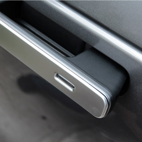 For Landrover Range Rover VELAR 2017 ABS Matte Silver Exterior Door Handle Trims Car Accessories 4pcs in Car Stickers from Automobiles Motorcycles
