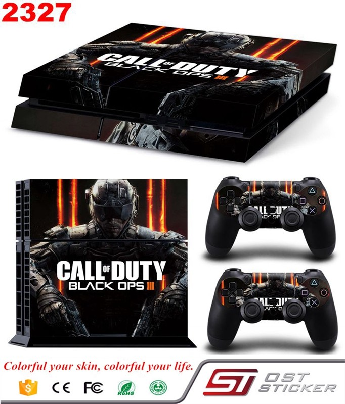 New Design Black Skin Cover Case Protection Skin Protective For Sony PS4 Controller Decals For Sony Playstation 4