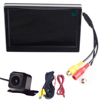 5.0 Color TFT LCD Monitor Car Parking Assistance Monitors DC 12V Car Monitors With Reversing Rear View Camera