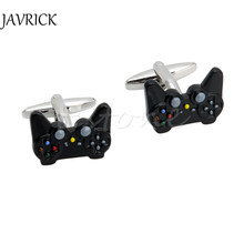 Fancy Black Game Consoles Handle Cuff Links Cufflinks for Mens Shirt Brand Novelty Fashion Cuff bottons Stainless Steel Jewelry(China)