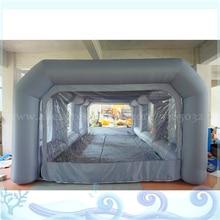 Настраиваемый размер надувной навес гараж, надувной автомобиль палатка, легкий подвижный надувной спрей покраска будка