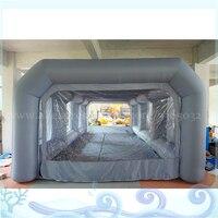 Настраиваемый размер надувной гараж, надувной навес для автомобиля, легкая подвижная надувная покрасочная камера