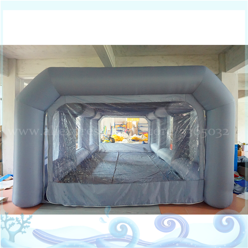 Customize Size Inflatable Carport Garage , Inflatable Car Tent, Easy Movable Inflatable Spray Painting Booth plus size halloween angry pumpkin skew neck tee