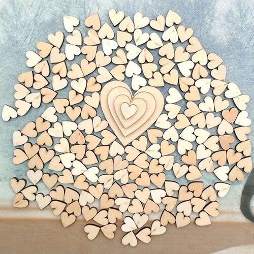 100 шт. 4 размера смешанные Деревянный Сердце Любовь СВАДЕБНЫЙ СТОЛ SCATTER Декор DIY Cr ...