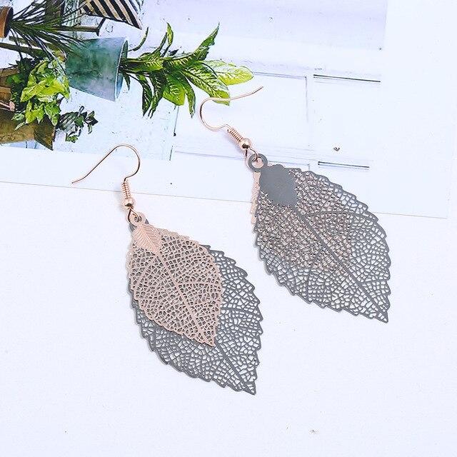 2 пары винтажных листьев lzhlq висячие серьги роскошные богемные