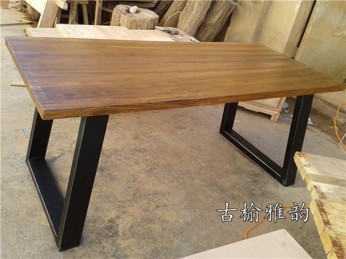 Tavolo Da Pranzo Industriale : Americano mobili olmo stile industriale dell annata ferro tavolo