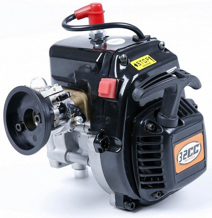 Moteur à essence 2 temps de grande cylindrée ROVAN 32CC avec carburateur Walbro 1107 et bougie d'allumage NGK pour voiture LOSI ROVAN 1:5 RC
