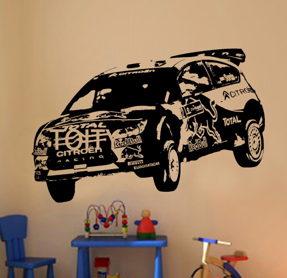 citroen rally car wall sticker sticker motor sport automobile vinyl decal home home children. Black Bedroom Furniture Sets. Home Design Ideas