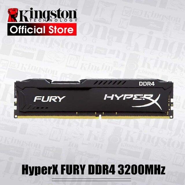 Ban đầu Kingston HyperX FURY DDR4 3200 MHz 8 GB 16 GB RAM Máy Tính Để Bàn Bộ Nhớ CL18 DIMM 288-pin Máy Tính Để Bàn bộ Nhớ trong Cho Chơi Game