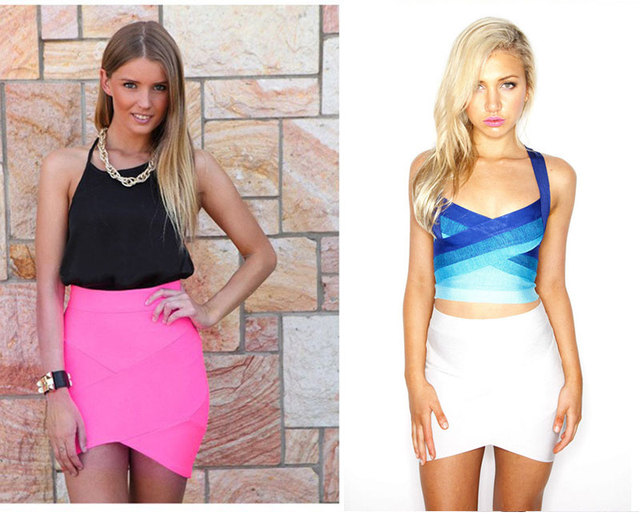 Elastic Women Skirts Mini Sexy Slim Pencil Clubwear