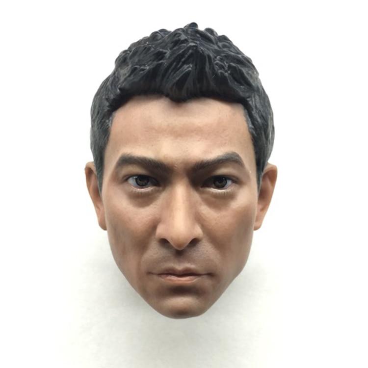 Mnotht 1/6 Solider Head Carving Asian Famous Star Lau Andy 1:6 Scale Head Sculpt Model  l30 mnotht toys 1 6 emilia clarke head sculpt carving model for 12 figure peaktoys pt002 presale toys l30