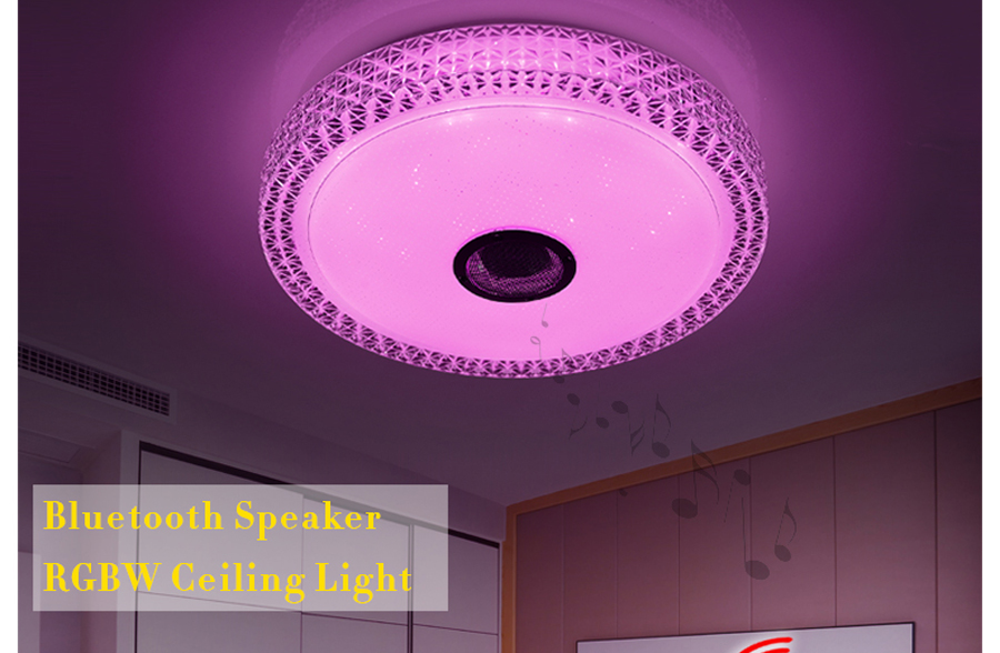 2019 led music ceiling lamp with bluetooth speaker 36w 90 260v rh dhgate com